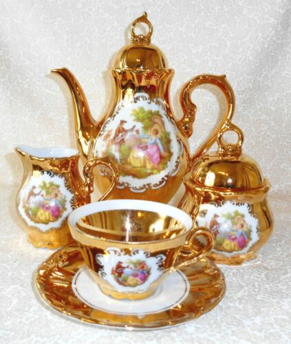 STW Tea Set 24K Gold Bavaria Germany