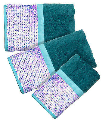 Tammi Aqua – 3-Piece Popular Bath Bathroom Pool, Hand, Wash Towel Set Bath