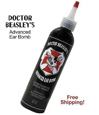 Doctor Beasleys Dog Ear Infection Treatment Antibiotic Antifungal Solution  8 Oz