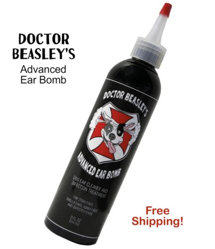 Dog Ear Cleaner Medicine Drops by Dr Beasley,  Advanced Yeast Treatment 8 oz