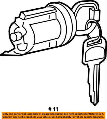 Scion Toyota Oem 05 06 Tc Ignition Lock Cylinder 6905721080