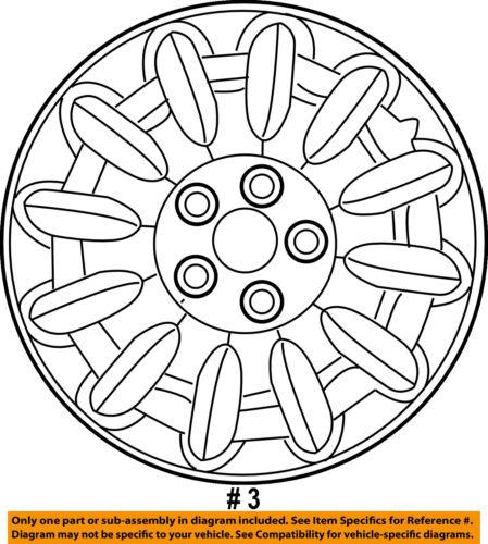 Chrysler Oem 08 10 Town Country Wheels Wheel Cover 4743813ab