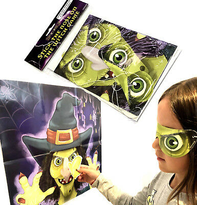 STICK THE NOSE ON THE WITCH HALLOWEEN GAME SPOOKY KIDS CHILDRENS PARTY ACTIVITY - Halloween Games Activities