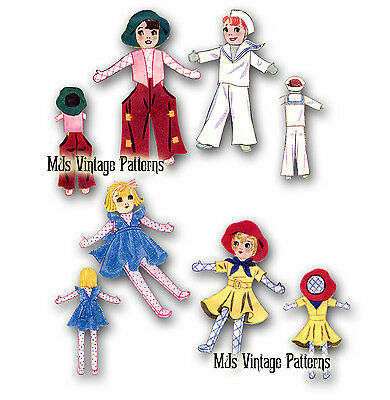 """Vintage Cowboy, Cowgirl, Sailor, Girl Pattern ~ 23"""" tall"""