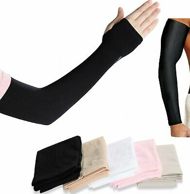 1 Pair Cooling Arm Sleeves Outdoor Sport Basketball UV Sun Protection Arm Cover