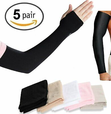 5 Pairs Cooling Arm Sleeves Cover UV Sun Protection Outdoor Sports COOL Basketball