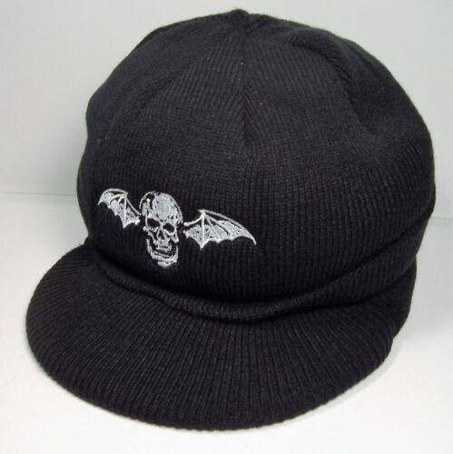 AVENGED SEVENFOLD PROMO KNIT CAP HAT W/ VISOR foREVer THE REV DEATHBAT UNWORN