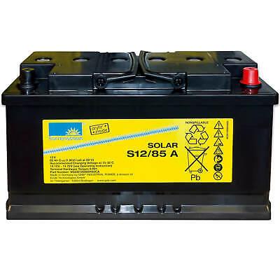 Sonnenschein Solar S12/85A 85Ah 12V GEL Blei-Akku Mover Wohnmobil USV Batterie