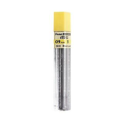 Pentel Hi-polymer Lead 0.9 Mm Bold Black 50-9-b