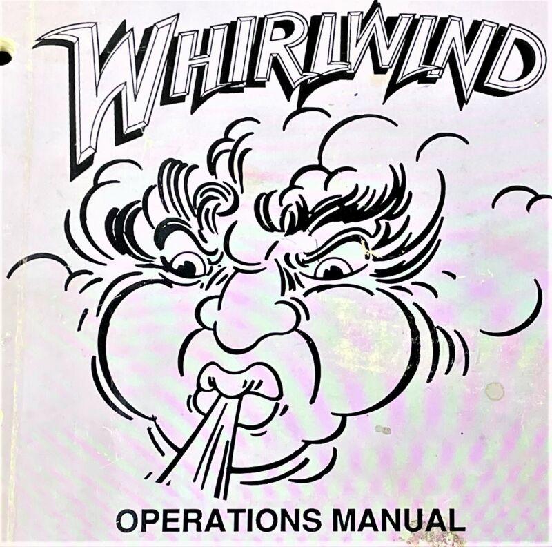 Williams Whirlwind Pinball Game Machine Manual Schematics ORIGINAL