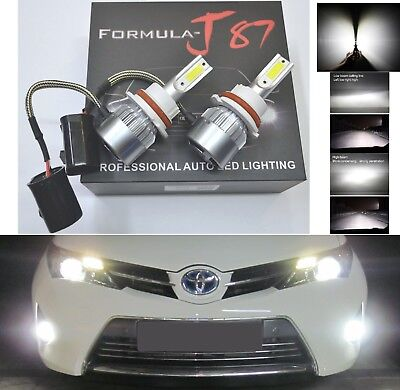 LED Kit C6 72W 9004 HB1 6000K White Two Bulbs Head Light Dual High Low Beam Lamp ()