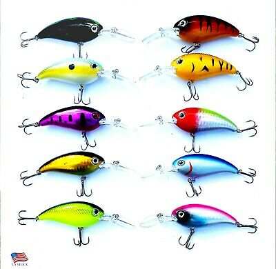 "1PC 6 Colors Minnow Baits 3.7/""-0.37oz Artificial Hard Lure Fishing Tackle"