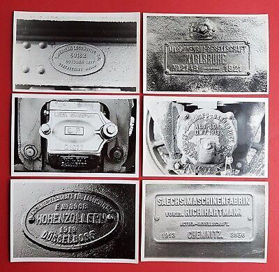 6 x DDR Foto Eisenbahn Lokschilder verschiedener Hersteller  ( 23304