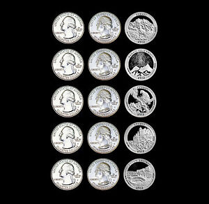 2012-P-D-S-America-the-Beautiful-National-Parks-Coins-in-Labelled-Coin-Flips