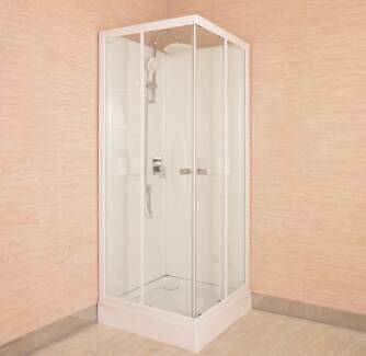 """Shower Cubicle With Acrylic Back  Wall 800x800x2000mm  """"New"""""""