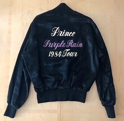 GRAIL Vintage 1984 Prince Purple Rain Tour Crew Satin Embroidered Bomber Jacket