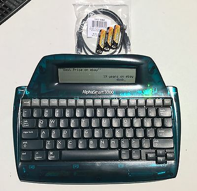Alphasmart 3000 Portable Word Processor Tested With Usb Cable Fresh Batteries