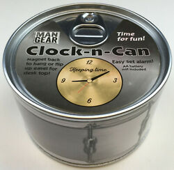 New Factory-Sealed Man Gear Clock-n-Can Designed in Montana Big Sky Carvers
