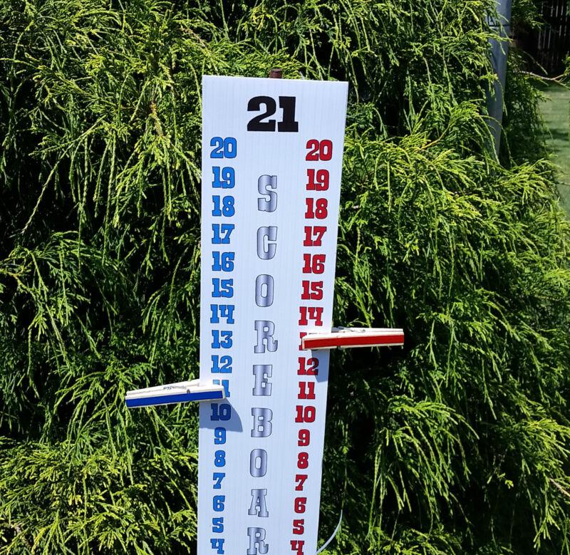Scoreboard Score Keeper - RED WHITE BLUE - UV Resistant- Cornhole