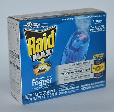Raid Ant-roach Killer (RAID MAX CONCENTRATED DEEP REACH FOGGER KILLS ANT ROACH SPIDER KILLER DEFENSE)