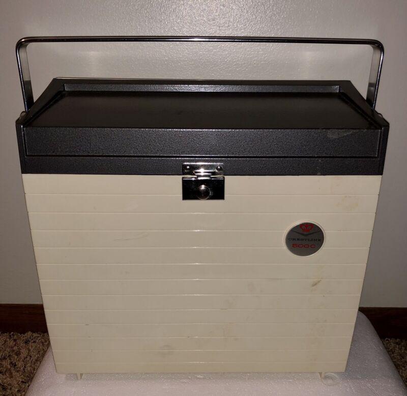 Vintage Sawyer Crestline 500-AD Slide Projector in Working Order w/ Factory Box