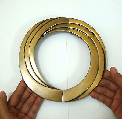 "6.61"" Set Vintage Round Retro Swirl Solid Brass Cabinet Drawer Handle Ring Pull"