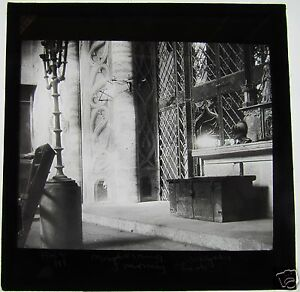Glass-Magic-Lantern-Slide-CASTLE-INTERIOR-C1900-GERMANY-OR-AUSTRIA-SEE-PHOTO-2