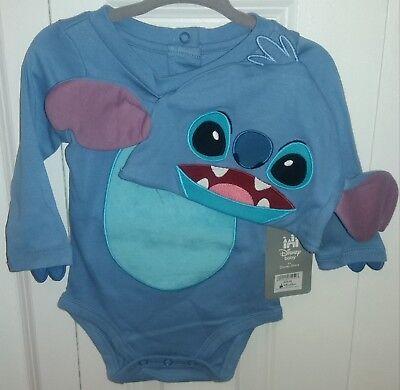 DISNEY Store LILO & STITCH Baby Boy Costume 2-Pc Bodysuit & Hat Sz 12-18M ~ NWT