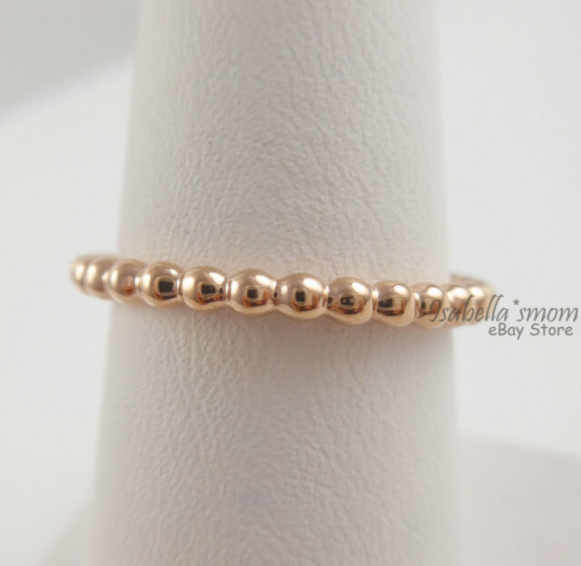 5543a237e ... ETERNAL CLOUDS Genuine PANDORA Rose GOLD Plated STACKABLE Band RING  8.5/58 NEW ...