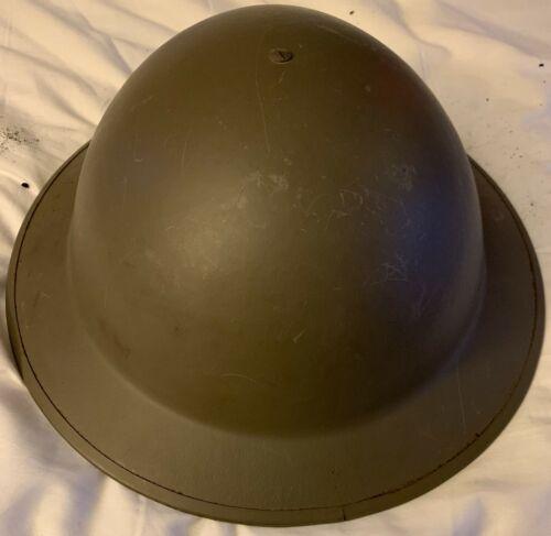 POST WW II DUTCH BRODIE DOUGHBOY B 56 1SLN MARKED POT TRENCH HELMET