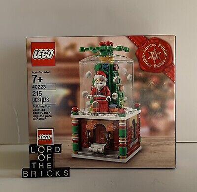 LEGO 2016 Christmas Holiday, Limited Edition Santa Snowglobe #40223 New Sealed!