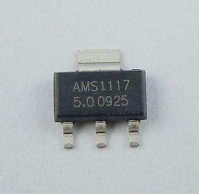 10pcs New Ams1117 5v 1a Voltage Regulator Sot-223