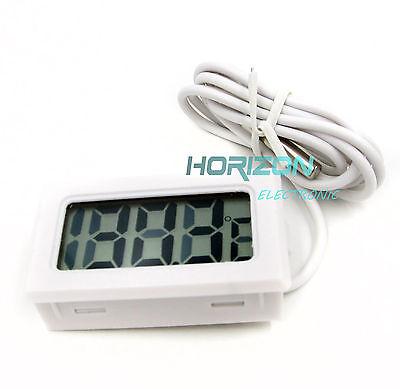 5pcs White Aquarium Temperature Gauge Lcd Digital Thermometer Fish Tank Arduino