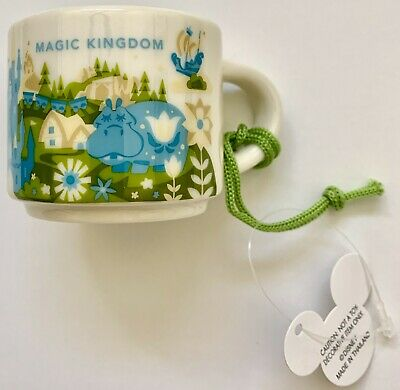 Disney Parks Magic Kingdom You Are Here Starbucks 2 Oz Mug Demitasse Ornament