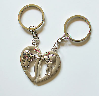 sweet heart boy and girl lover couple  metal key chain