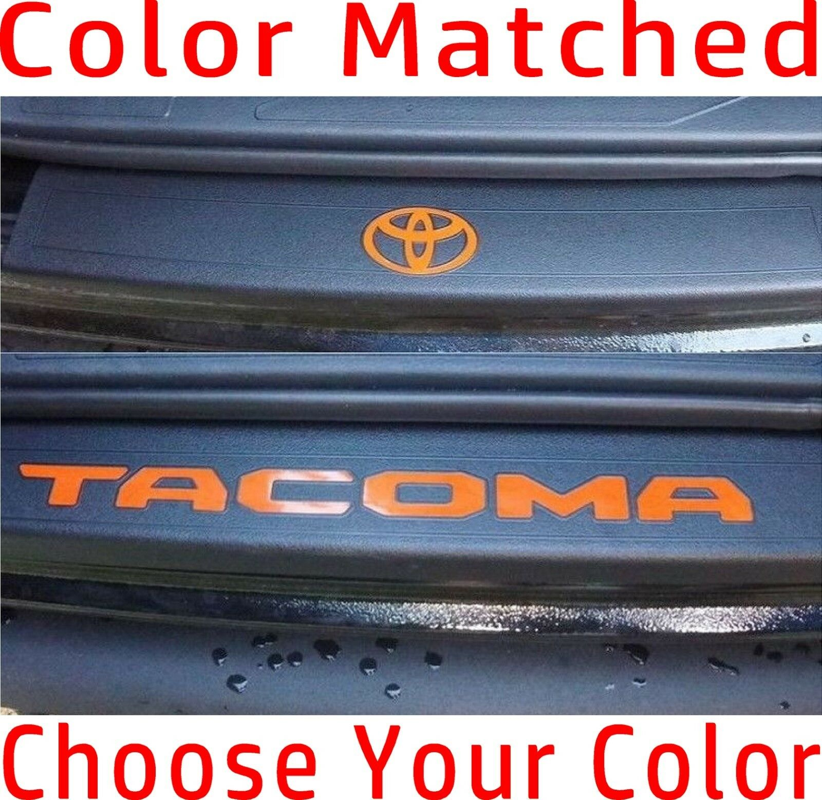 Toyota Tacoma Door Sill Decals Premium Vinyl Decals Inserts  2016-2019 Letters