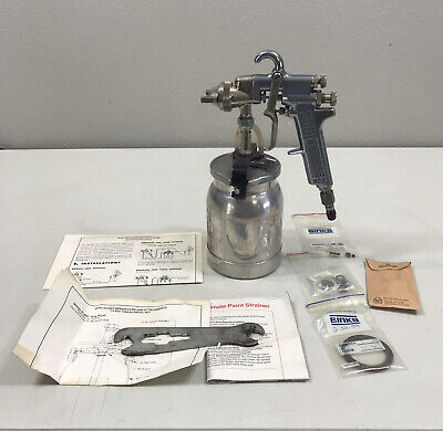 Binks Brand Model 2001 Paint Spray Gun With 81-350 Drip Proof 1 Quart Siph Cup