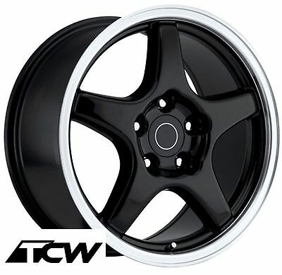 "17"" 17x9.5"" inch Corvette C4 ZR1 OE Replica Gloss Black Wheels Rims fit C4 84-87, used for sale  Riverside"