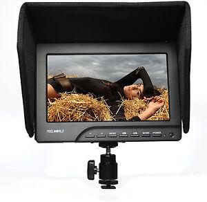 New-7-Inch-Professional-Camera-LCD-Monitor-HDMI-DSLR-VGA-Audio-W-LP-E6-Adapter