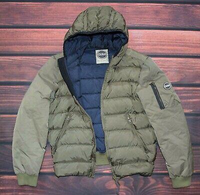 COLMAR green Men's Goose Down Lightweight hooded Jacket Coat size 48