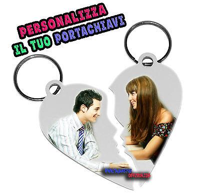 Brauch Anpassbare Herz Teilbar aus Zwei Schlüsselanhänger (Anpassbare Schlüsselanhänger)