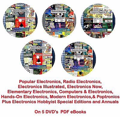 Popular Electronics, Radio Electronics Collection & Others 1505 Issues on 5 DVDs