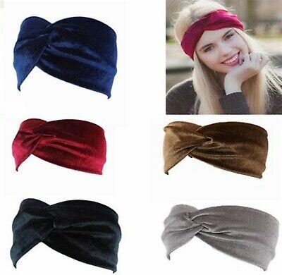 Breites Haarband SAMT Stirnband Bandana Haarreif  Knoten  EDEL-9 Farben zur (Bandana Haar)