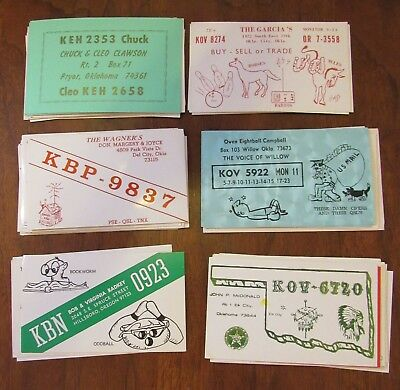 QSL Ham Radio Card Lot of 49 Oklahoma OK