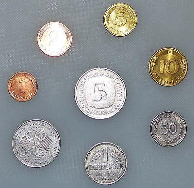 Die Gute alte D-Mark Erinnerungssatz 1 Pfennig bis 5 DM