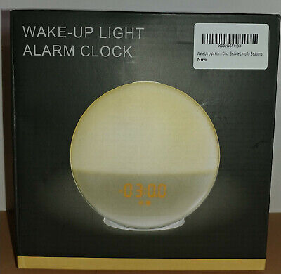 Wake Up Light Alarm Clock Lamp Radio Sunrise Fading Sunset NIB