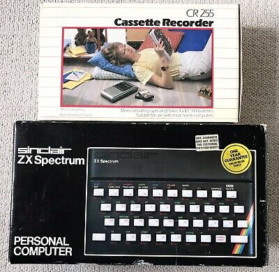Sinclair ZX Spectrum Computer 48K With Manuals And Cassette Recorder