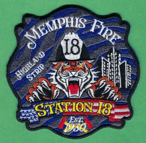 MEMPHIS TENNESSEE FIRE DEPARTMENT STATION 18 PATCH