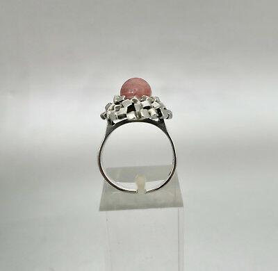 ❂ ► Gutes Schmuck- Design der 70er 80er Jahre, Ring, Silber 925, Rhodochrosit ()