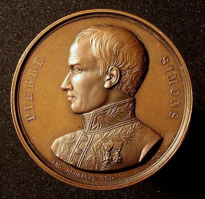 Kgr. Belgien, Bronzemedaille 1843, auf d. Tod des Eisenbahnpioniers Pierre Simon